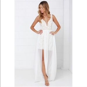 Make Way For Wonderful Off White Lace Dress